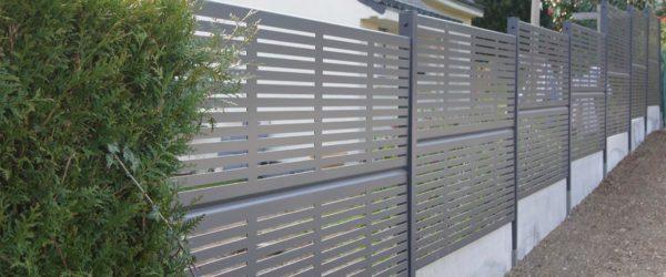 Cloture de jardin en aluminium