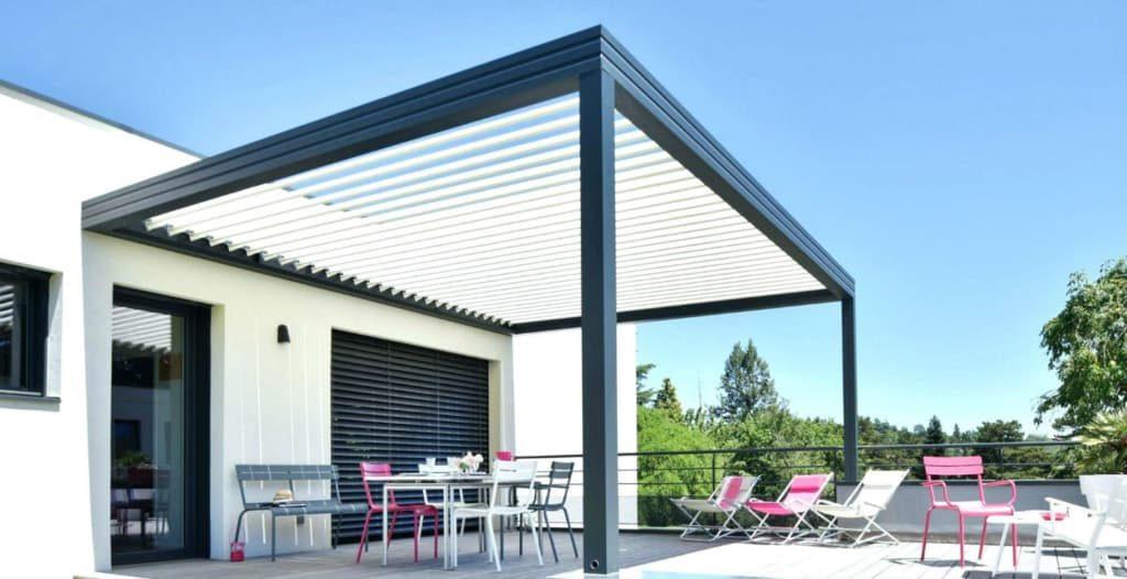 la pergola pour balcon unikit fr. Black Bedroom Furniture Sets. Home Design Ideas
