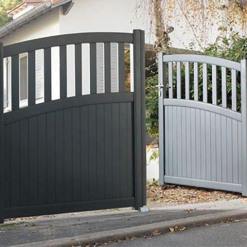 portail aluminium grey